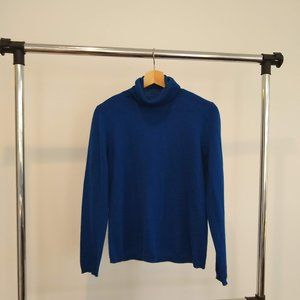 Women's Blue Turtle Neck Sweater